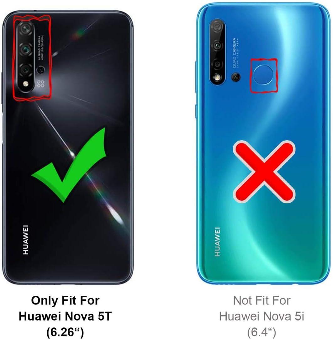 Verco Funda para Nova 5T Suave de Silicona L/íquida Carcasa Anti-Choques Case para Huawei Nova 5T Funda Rojo