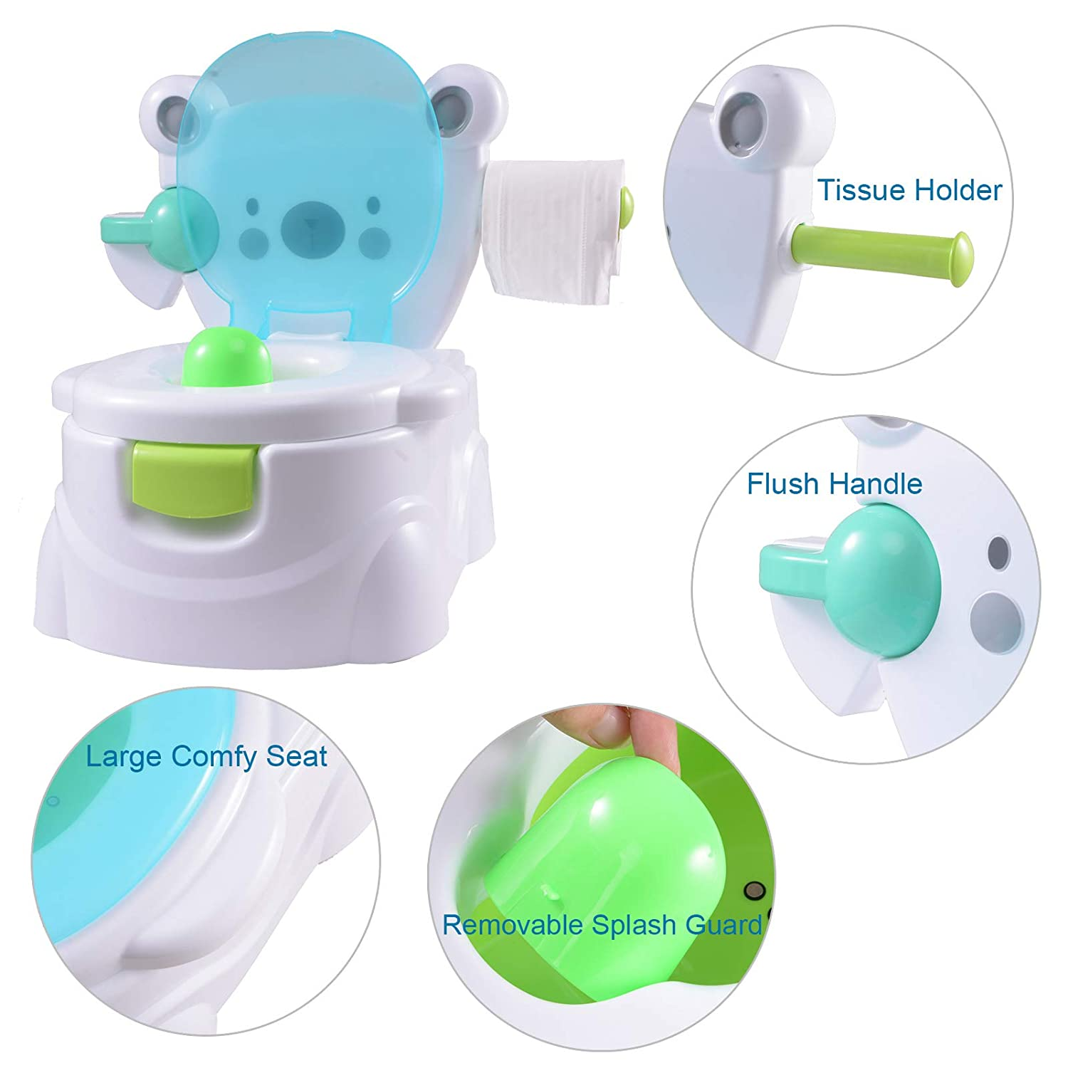 Voilamart Kid Toilet Seat Training Encourage Practice with Music Potties for Toddlers Boys Girls