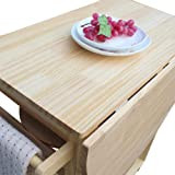 U-smile Foldable Dining Cart with Wooden