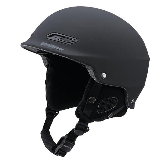SWANS(スワンズ) 子供用 ヘルメット スキー スノーボード フリーライドモデル H-60M MBK マットブラック S(53〜56cm)