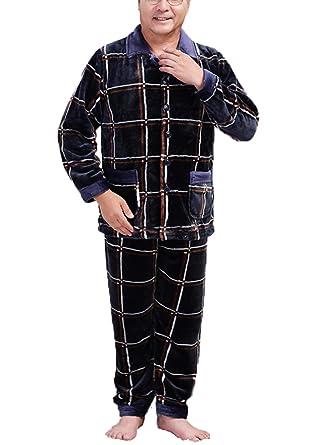GKKXUE Pijama de terciopelo de coral para hombre Modelos de otoño e invierno cálido: Amazon.es: Ropa y accesorios