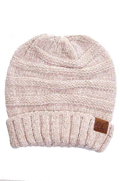 6a0de167689 CC Womens Fuzzy Two Toned Chenille Beanie Hat Shop Our Pins