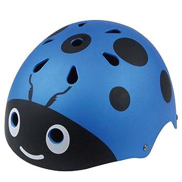 048132bbd64 Lommer Ajustable Niño Casco Ciclismo Bebe Casco Bici Diseño del Mariquita para  Bicicleta, Patineta, Scooter, Monopatín, 3-12 Anos (Azul): Amazon.es: ...