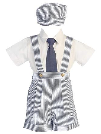 Amazon.com: Dapperlads Lito Little Boys azul Seersucker 4 ...