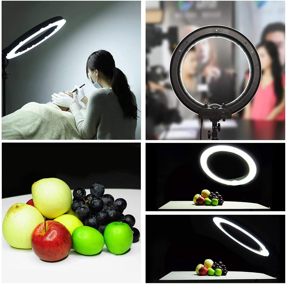 AW Professional 14 Dimmable Ring Light 45W Fluorescent Photo Video Studio Portrait Live Game Video Light 5500K w//Bag