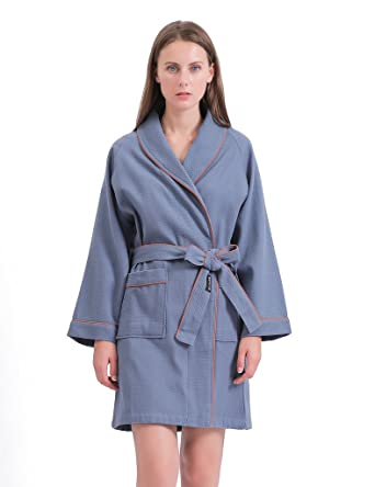 f6f4d3bb5a Sanli Short Waffle Robes for Women