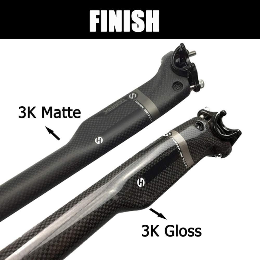 Premium T800 Carbon Superlight Mountain Bike Floding 350//400mm Broken Wind Seat Post Tube TOSEEK 【US Stock】 3K Full Carbon Fiber 27.2//30.8//31.6mm MTB Road Bike Matte//Gloss Seatpost