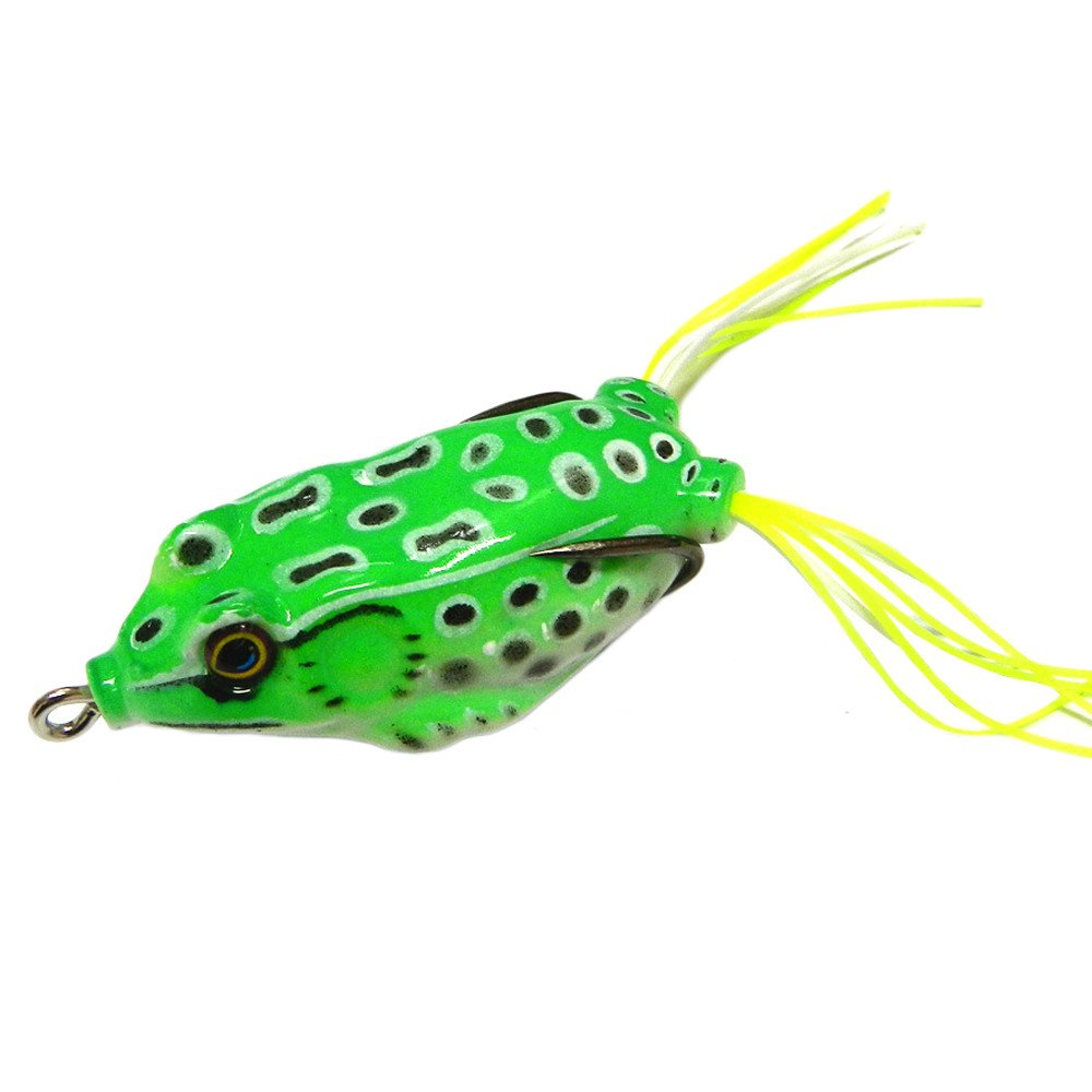 Ghazzi 6pcs Frog Snakeheads Bait Fishing Lures Bass Soft Bait Fish Tackle Hooks Bass Fishing Set