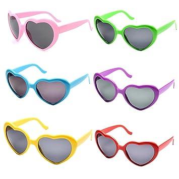 4f7fe69669b FSMILING Wholesale Neon Colors Heart Shape Sunglasses for Women Kids Party  Favour