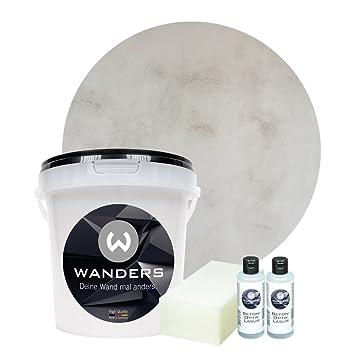 Wanders24 Beton Optik 1 Liter Komplettset Wandfarbe Zum Spachteln