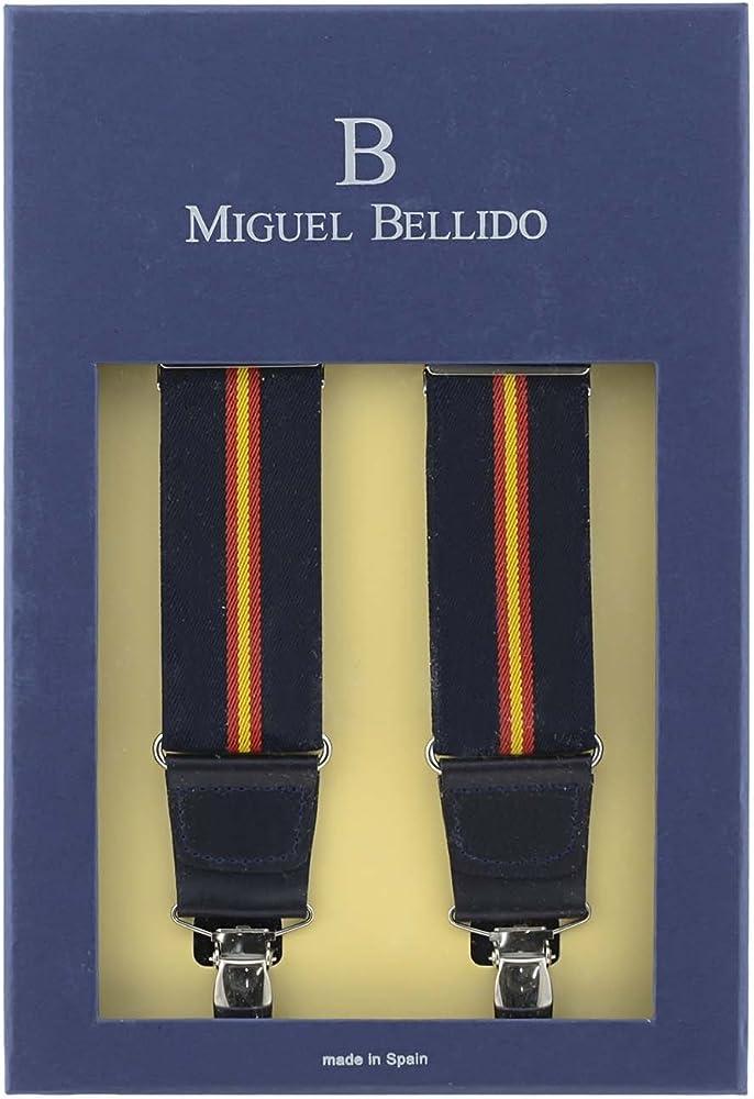 MIGUEL BELLIDO Tirantes elástico bandera España: Amazon.es: Ropa y accesorios