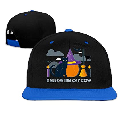 dd5fcb69a Amazon.com: Yilele Baseball Caps for Men and Women Halloween Cat Cow ...