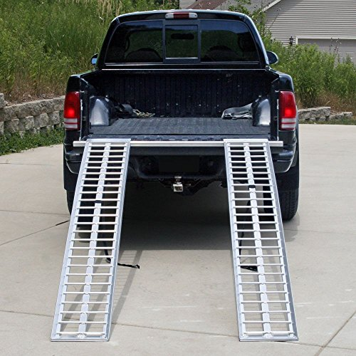 Rage Powersports 95'' Aluminum Non-Folding Arched Lawn & Garden Equipment Loading Ramps by Rage Powersports (Image #3)