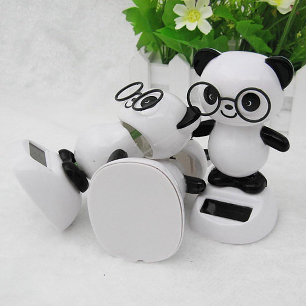 Figurines dansantes Panda nouveaut/é Bureau Voiture Jouet Ornement ZUNH2 Jouets /à /énergie Solaire-Panda Ornement
