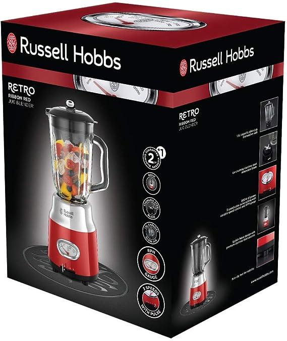 Russell Hobbs Retro 25190-56 - Batidora vaso 800 W, vaso cristal ...