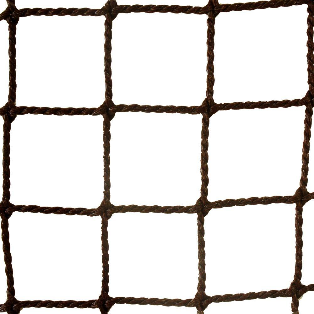 ネット 網 NET15 ■ブラウン ▼幅590cm ▽丈300cm 25mm目 JQ 防球ネット 防鳥ネット 防犯用ネット 階段ネット 落下防止ネット 安全ネット ゴルフネット サイズオーダー B07H3L135V ▽丈300cm ▼幅590cm
