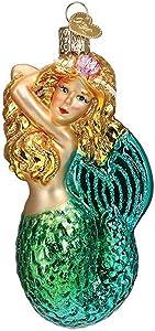 Old World Christmas Ornaments Seashell Mermaid Glass Blown Ornaments for Christmas Tree