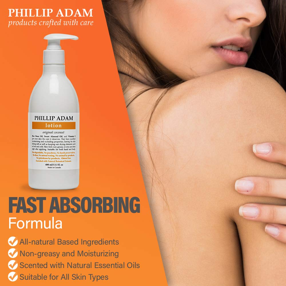Phillip Adam Coconut Hand And Body Lotion Lightweight Moisturizer For All Skin Types 13 5 Ounce Beauty