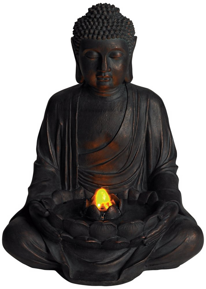 Meditating aged bronze buddha led indooroutdoor fountain amazon meditating aged bronze buddha led indooroutdoor fountain amazon patio lawn garden workwithnaturefo