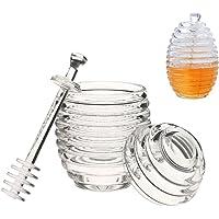 Onerbuy Beehive Honey Jar Contenedor de olla transparente