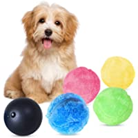 Magic Roller Ball Toy Automatic Roller Ball Magic Ball Dog Cat Pet Toy (1 Rolling Ball + 4 Color Ball Cover)