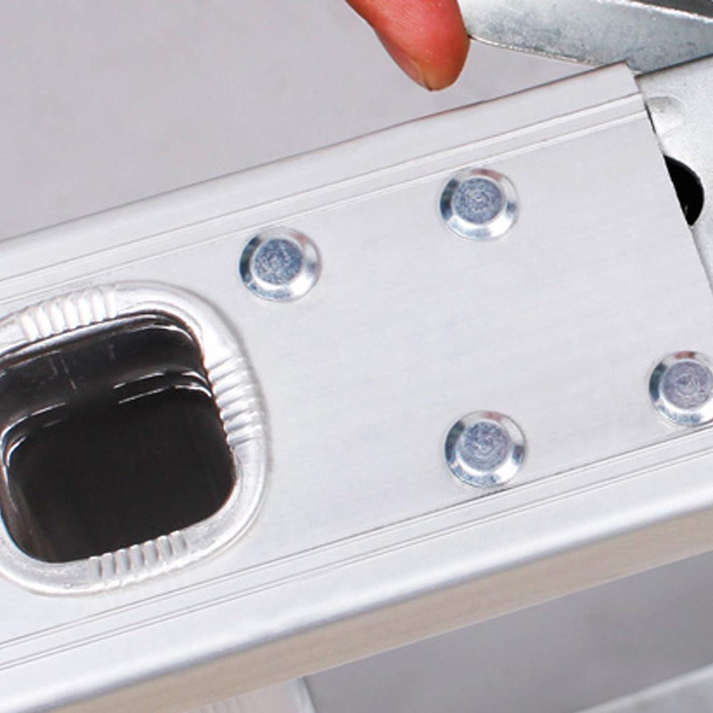 JUEYAN Escabeau multifonction 6 en 1 /échelle en aluminium multi-usages Escabeau pliable pliable avec support pour articulations Charge maximale 150 kg Echelle combin/ée 4 x 4 marches