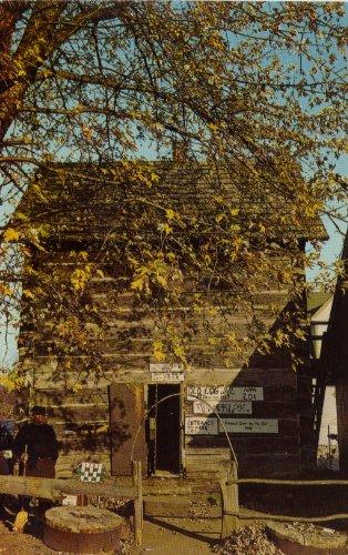 Historic Old Log Jail Nashville Indiana Post Card 60's (Log Postcard)