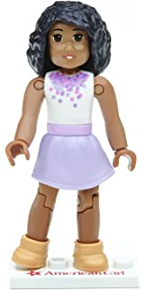 American Girl MEGABLOK PURPLE PASSION Lego Mini Figure Doll 2.5 Inches Tall NEW