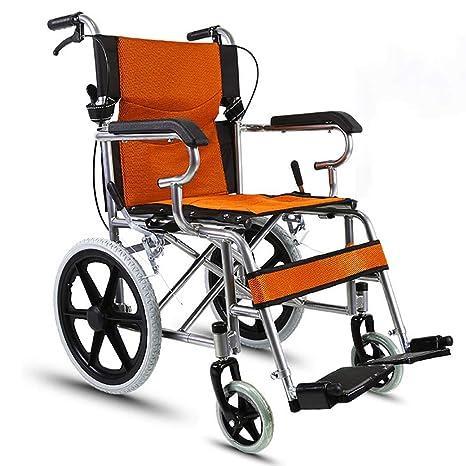 L-Life Silla de ruedas, silla de ruedas para discapacitados Carro para personas mayores