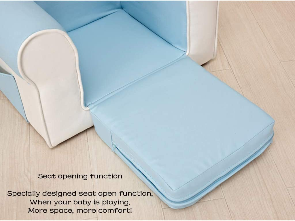 ZXF- Silla cómoda de los niños Silla Moderna Simple sillón de Dibujos Animados Lindo Colores Colores Coinciden con Colores Creativo Regalo de cumpleaños Blue