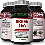 Natural Antioxidant Green Tea Extract – Pure 500 mg Fat Burner Capsules – EGCG Catechins Promote Healthy Heart – Best Caffeine for Weight Loss – Bodybuilding + Metabolism Pills by Natural Vore