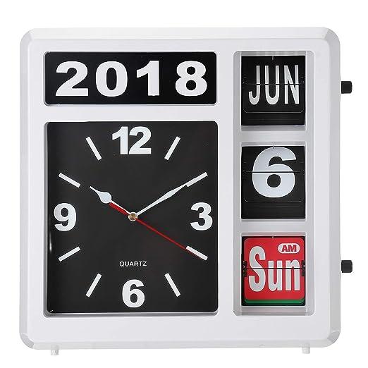 Bureze Reloj de Mesa de Escritorio con Tapa automática para Regalo ...