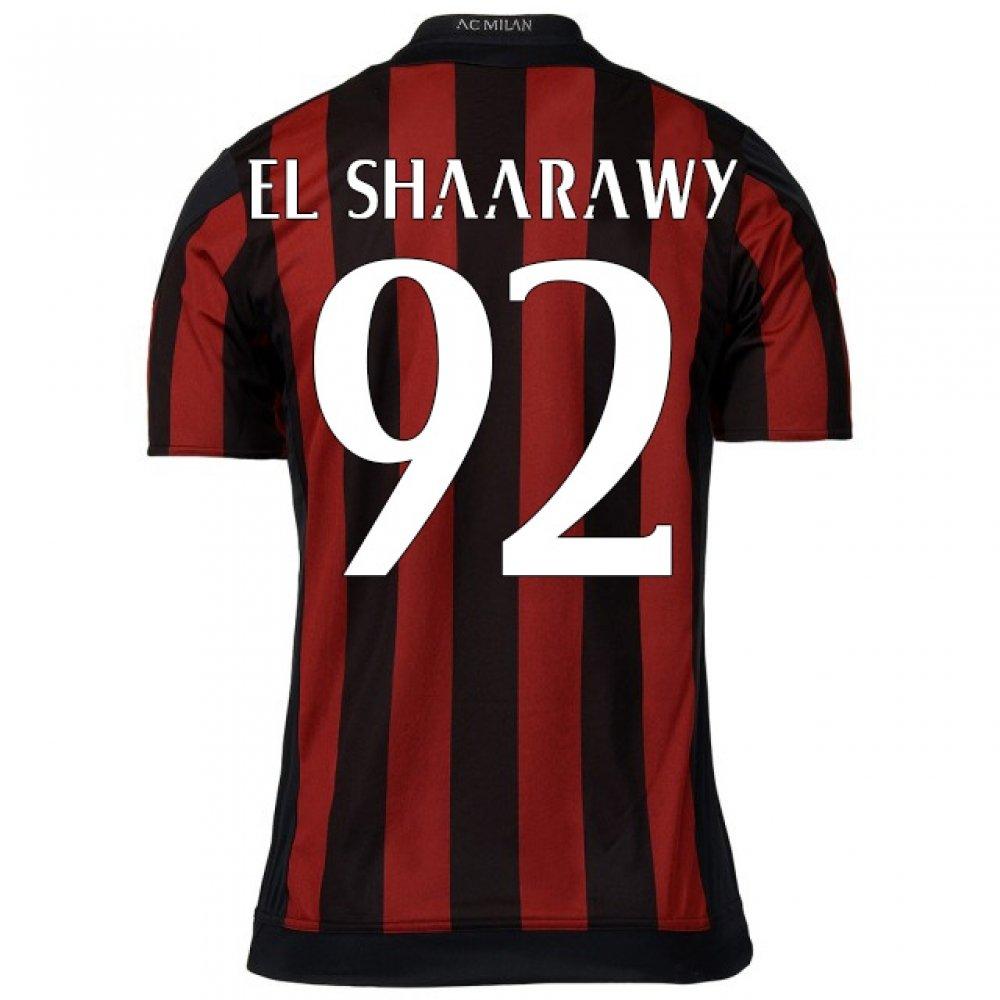 2015-16 AC Milan Home Shirt (El Shaarawy 92) Kids B078CQ4XZQRed Large Boys 30-32\