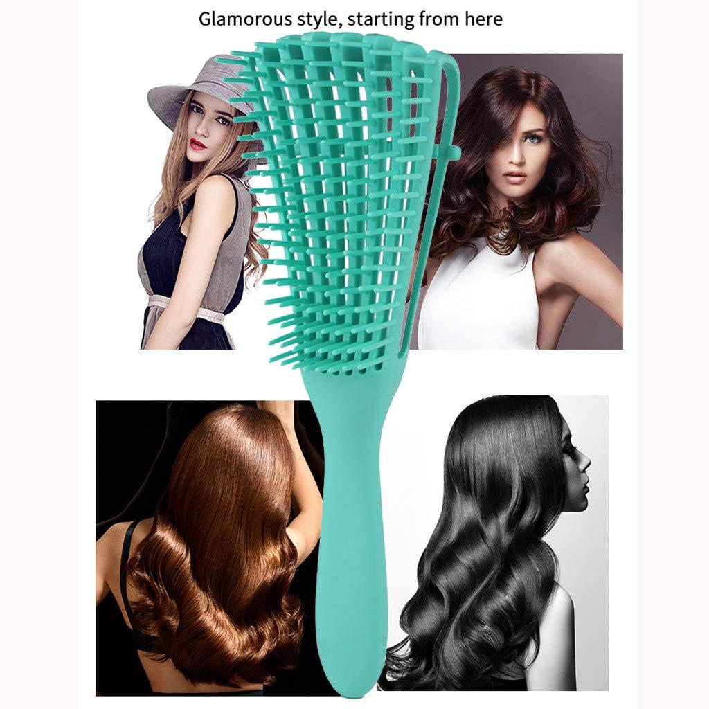 Green Newdiva New Scalp Massage Comb Hair Brush Women Detangle Hairbrush