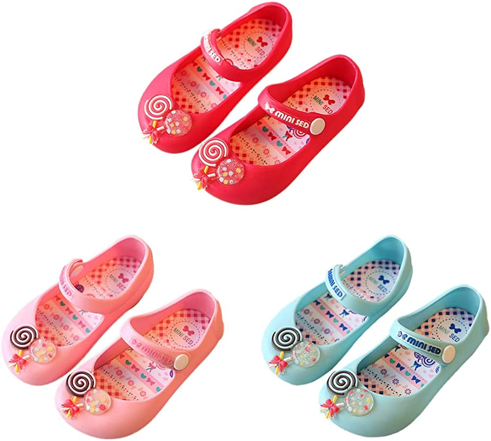 iFANS Girls Sweet Sugar Princess Sandals Shoes Mary Jane Flats for Toddler//Little Kid Pink