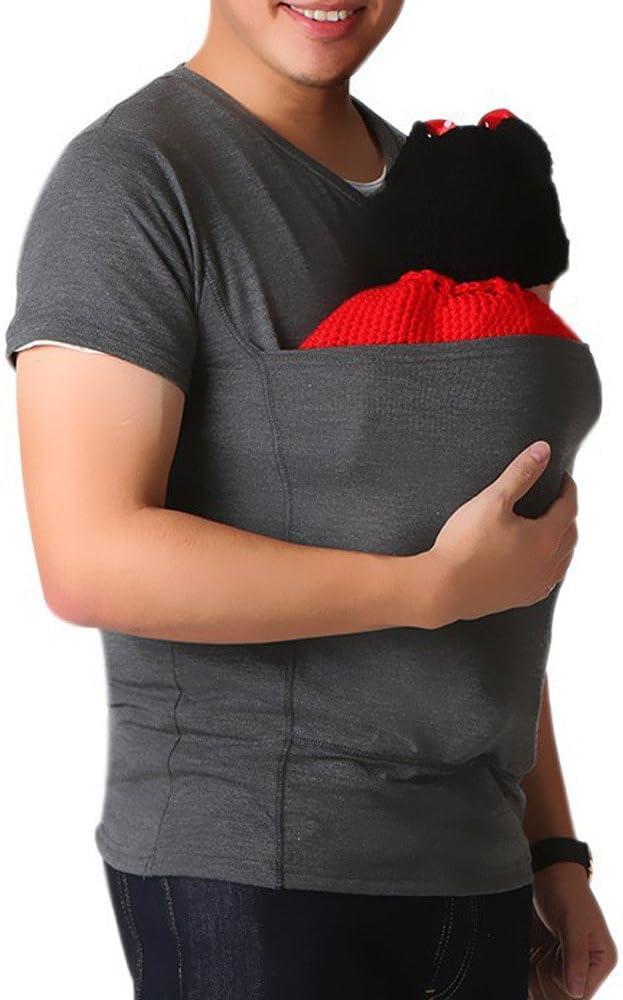 Papa Baby Carrier Holder – Camiseta de portabebés portabebés (manga corta camiseta de tuerca multifuncional mesa elástica Wrap Tank Camiseta portabebés Blusa Tops Talla:XL: Amazon.es: Bebé