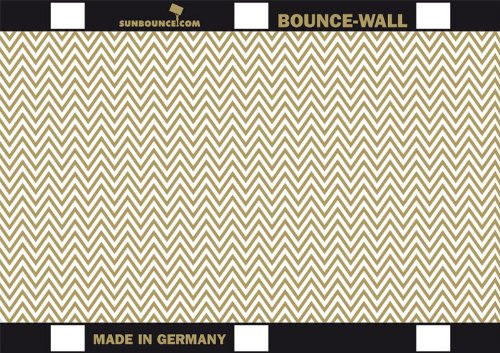 (SUNBOUNCE Bounce-Wall Reflector A4 8 x 11 Inch Galaxy Gold/White-Gold Zig-Zag Front and White Rear)