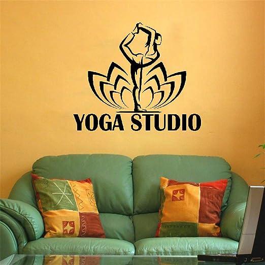 pegatina de pared pegatina de pared frases Yoga Studio Logo ...