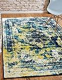 Unique Loom Sofia Collection Navy Blue 8 x 10 Area Rug (8' x 10')