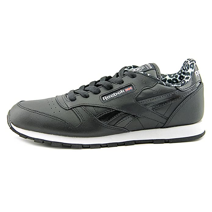 Reebok Classic Leather Animal Youth US 7 Black Sneakers: Amazon.co.uk: Shoes  & Bags