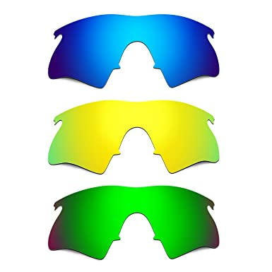 fc5e654e36 Hkuco Mens Replacement Lenses For Oakley M Frame Heater Blue 24K  Gold Emerald Green