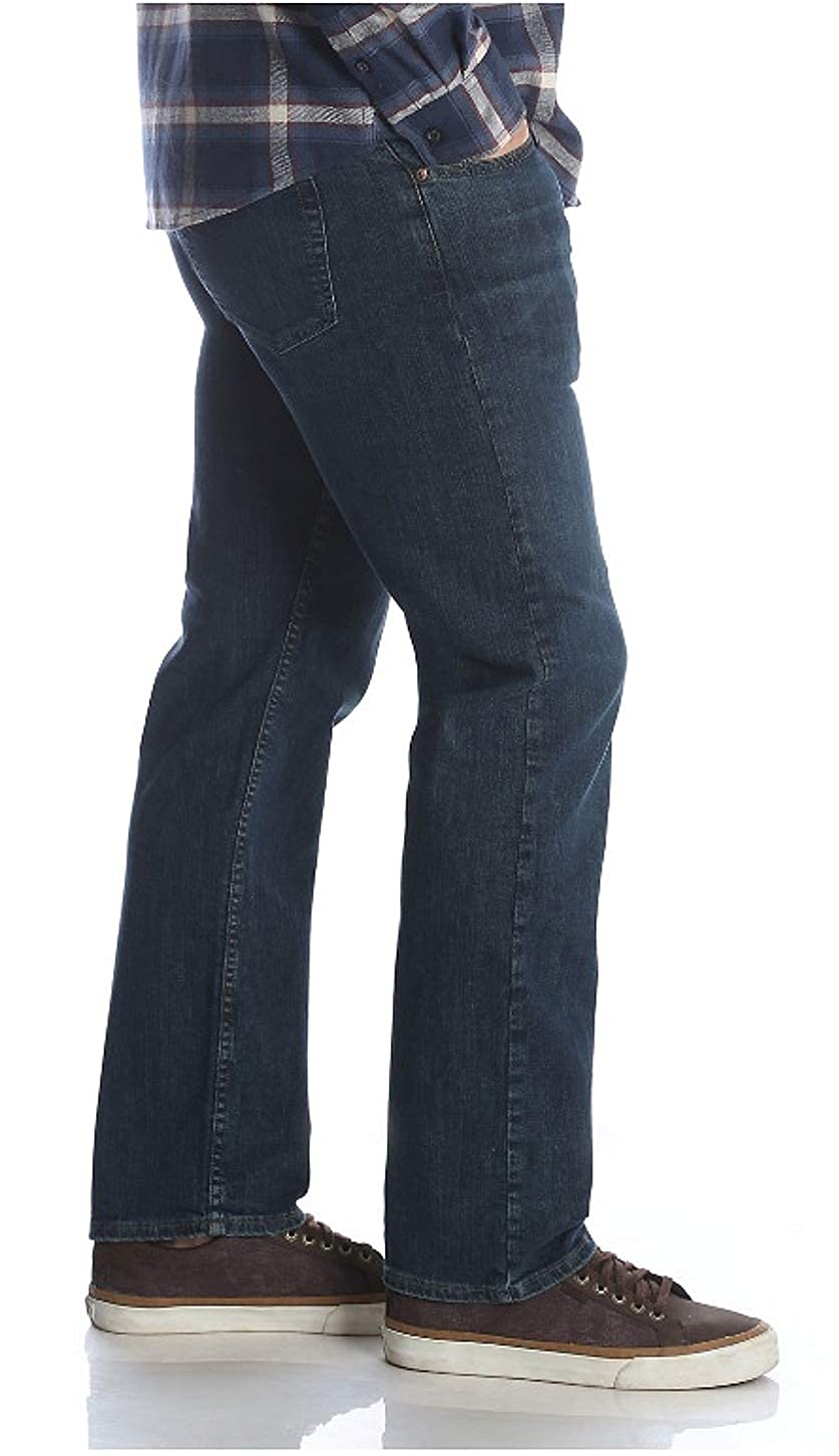 Wrangler Mens Performance Series Relaxed FIT Jean with Comfort Flex Waistband Carbon Dark Wash, 36 x 32