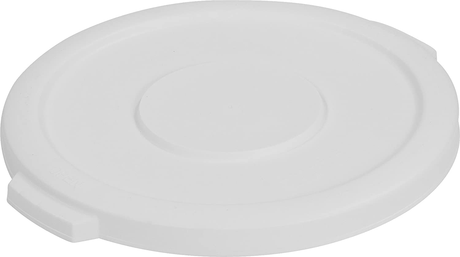Carlisle 34101102 Bronco Round Waste Bin Food Container Lid, 10 Gallon, White