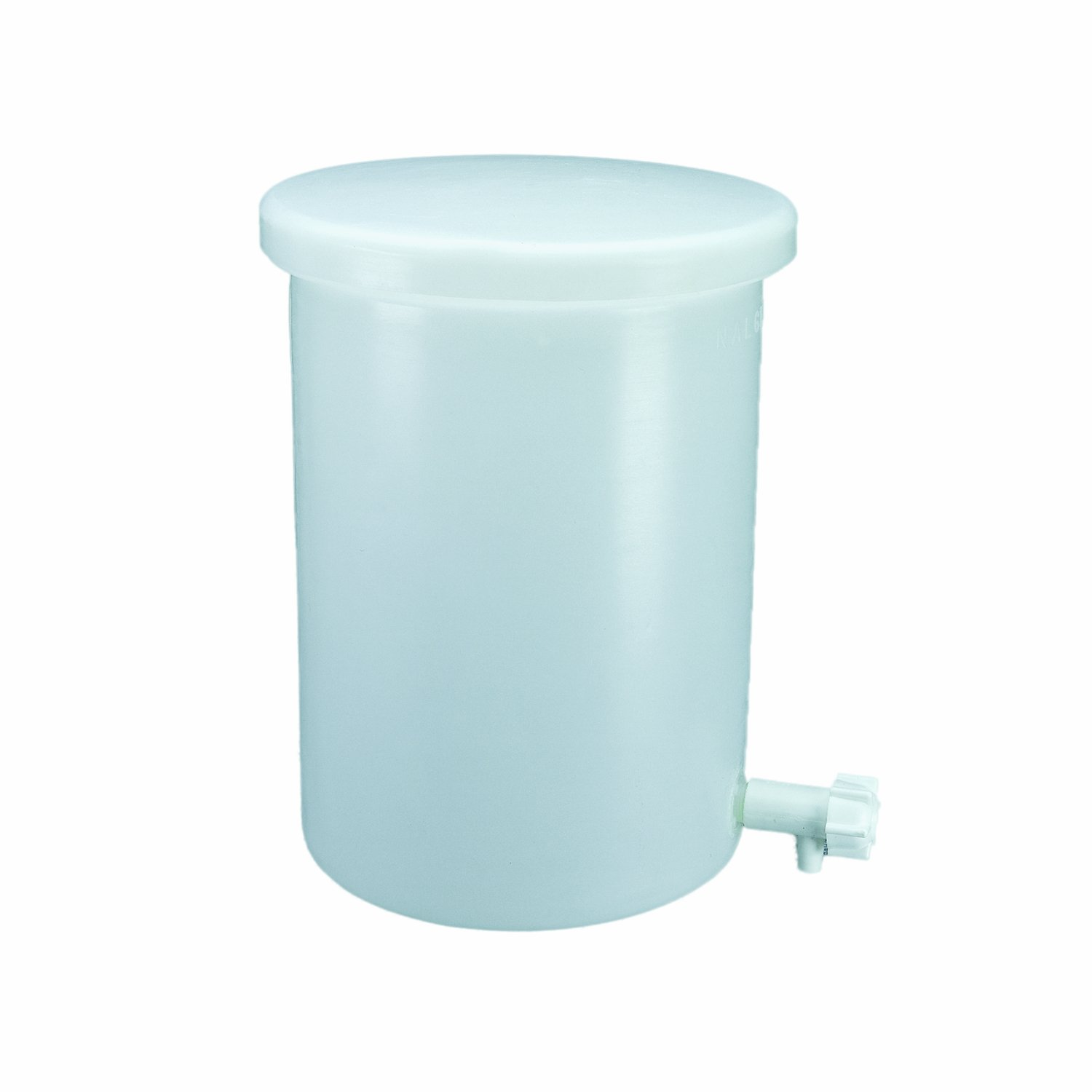 Nalgene 54102-0005 HDPE 19L Lightweight Laboratory Cylindrical Tank, with Cover and Spigot