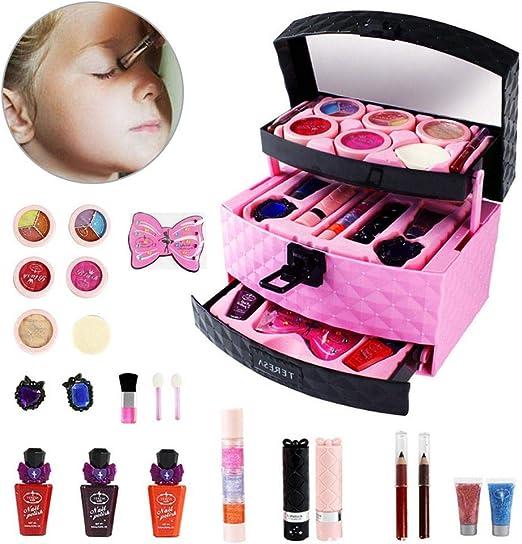 Juego de cosméticos para niños de Womdee, juego de maquillaje lavable para niños, kit de maquillaje para niños y niñas de 3 años de edad: Amazon.es: Hogar