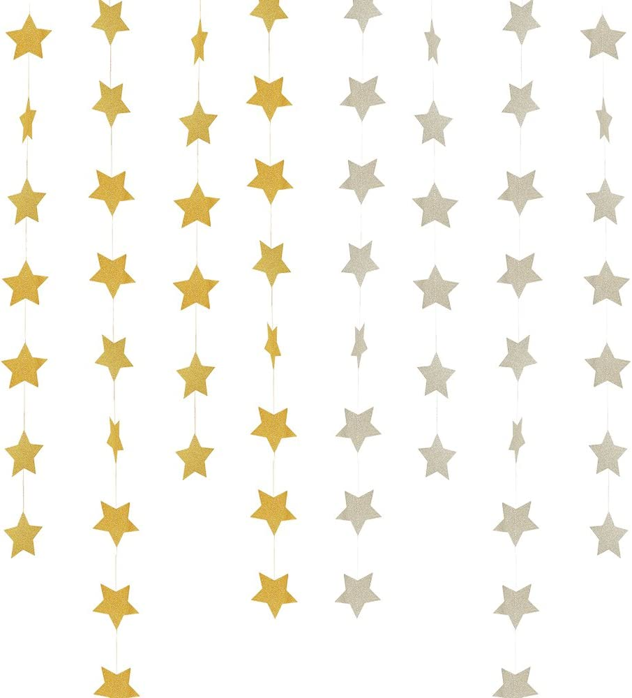 Star Paper Garland Banner Baby Shower Home Party Hanging Decor Supplies MH