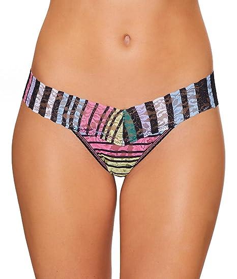 57fab7d86 Hanky Panky Women s Chalk Stripe Low Rise Thong