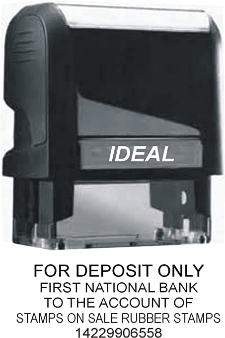 Custom For Deposit Only Stamp Up To 5 Lines