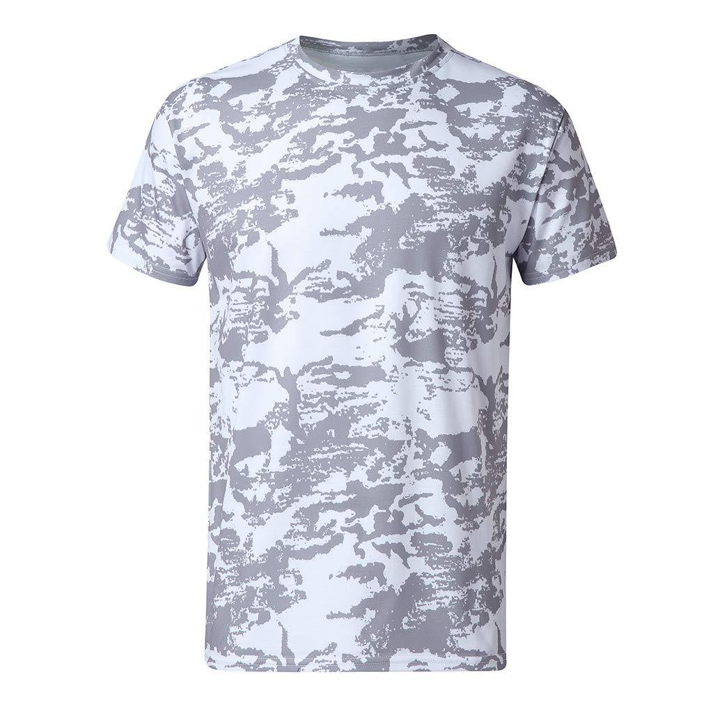 Treaxer Printing Tees Short Sleeve T-Shirt Blouse Outdoor Walking Leisure