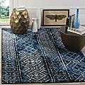 Safavieh Adirondack Collection ADR111A Silver and Black Indoor/ Outdoor Area Rug
